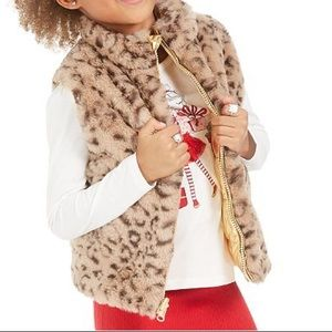 Epic threads faux fur reversible puffer down vest